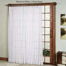 patio door curtain rods with white curtain ideas and sliding door system
