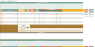 Free Marketing Plan Templates For Excel Smartsheet Business And