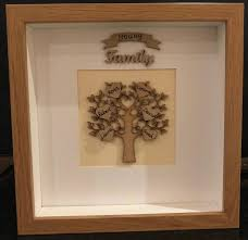 personalised wooden family tree frame small