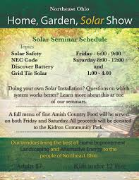 house gardening alternative energy and different aspects a homeowner will encounter when dealing alternative energy fine amish country food will be served throughout the event