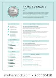 Curriclum Vitae Template Royalty Free Cv Template Images Stock Photos Vectors Shutterstock