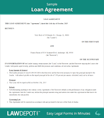 Business Loan Agreement Loan Agreement Template US Free Loan Contract LawDepot 1