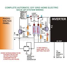 off the grid generator battery home backup systems wiring diagram image