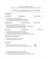 chronological resume template free samples examples format templates chron .