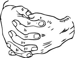 Kleurplaat Zwaaiende Hand Wwwpicswecom