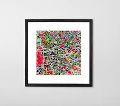 personalized art print or poster map print on personalised canvas wall art uk with personalized map print poster or canvas posterhaste