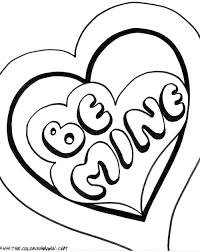 Valentine Be Mine Coloring Pages | Free Coloring Pages For Kids