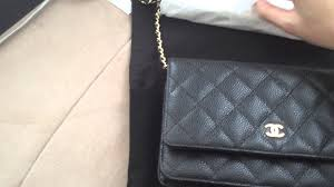 Unboxing chanel WOC quilted caviar black - YouTube &  Adamdwight.com