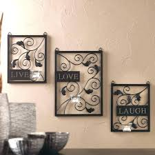 enchanting metal wall hanging live love laugh 3 piece black wall set metal wall art decor