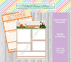 Weekly Newsletter Template Amazing October Newsletters Monthly Or Weekly Newsletter Templates Etsy