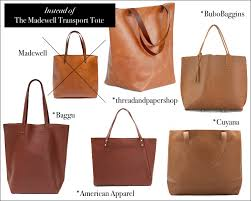 made in us leather tote