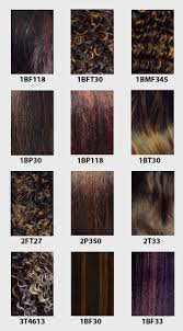 Janet Collection Color Chart Hair Color Chart