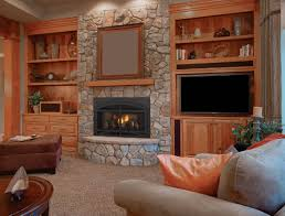 ... Contemporary Home Interior Design Ideas Using Electric Gas Fireplace  Insert Decoration : Attractive Home Interior Design