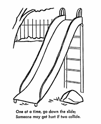 Small Picture Learning Years Child Safety Coloring Page Playground Safey