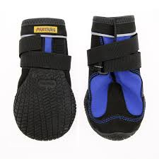 Muttluks Snow Mushers Dog Boots Blue With Black Trim Set Of Two