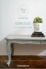 Adding Glaze to Furniture I Restore Stuff