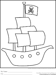Pirate Coloring Pages Ship Pirates Pinterest Ships Pirate