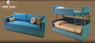 twinny couch morphs into a bunk bed