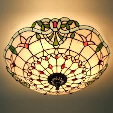 stained glass flush mount ceiling light beautiful ceiling fan light kit plug in ceiling light