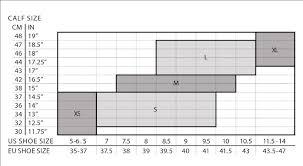 2xu Compression Socks Size Chart Size Guide Womens Compression Socks For Recovery Wa4424e