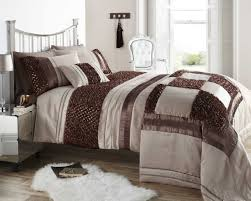 brown natural colour stylish ruffled sequin duvet cover luxury beautiful bedding