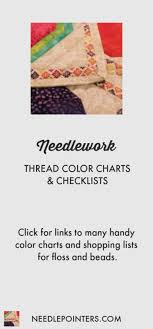 Thread Color Charts Checklists Needlepointers Com