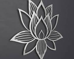 lotus flower metal wall art lotus metal art lotus flower wall art home decor large metal wall art brushed lotus of enlightenment ii on metal lotus flower wall art with lotus flower art etsy