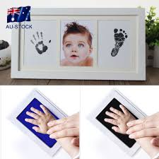 details about baby handprint footprint photo frame kit inkless wipe newborn keepsake souvenir