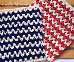 Zig Zag Crochet Pattern Inspiration Free Crochet Dishcloth Pattern ZigZag Mellie Blossom