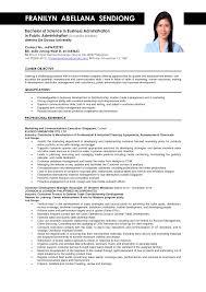 Sample Of Resume Resumes Objectives For Hrm Good Pdf Format File
