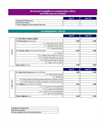 Projected Balance Sheet In Excel Projection Sheet Template 3 Year Profit And Loss Account