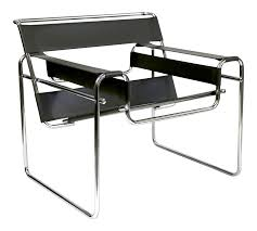 Reproduction Wassily Chair Marcel Breuer Black Leather and Chrome Tube  Frame | Chairish
