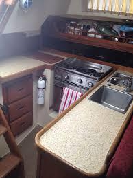 bar top counter top sail boat refinish laminate