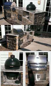 Outdoor Kitchen Gas Grill Custom Outdoor Kitchen With Firemagic Gas Grill And Big Green Egg