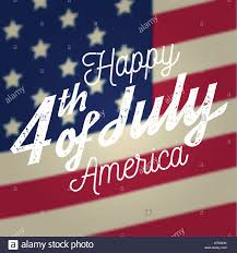 Happy 4th Of July Design In Retro Style Fourth Of July Greeting
