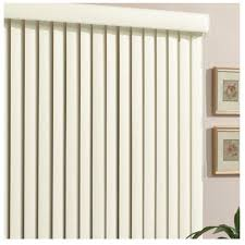 Shop Style Selections 35in Cordless Alabaster Vinyl Room Lowes Vertical Window Blinds
