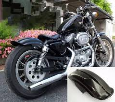 free shipping 1pcs black rear fender for harley sportster xl solo