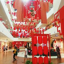 images about shopping mall on Pinterest Shopping Mall decorated with Reds  represent prosperity and happiness