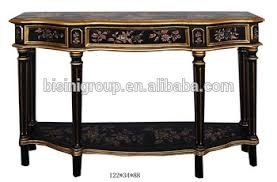 antique hall table. Antique Chinoiserie Style Hand Painted Black Console Hall Table BF11-03281i Antique Hall Table