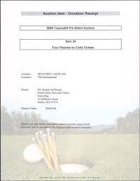 silent auction program template basic silent auction donation receipt v m d com