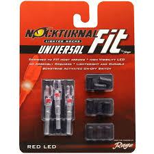 Nockturnal Gt Lighted Nocks Nockturnal Fit Universal Size Red Lighted Nock 3 Pack Nt 302