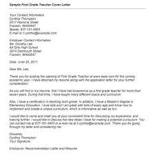 First Year Teacher Cover Letter Canovianoclassico Com