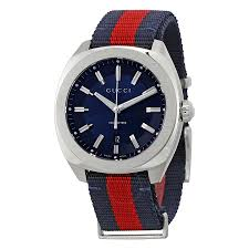 gucci watches jomashop gucci gg2570 blue dial blue and red nylon men s watch