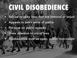 what is civil disobedience and why is it different from satyagraha  there is a definite clause there that says that violence is not completely ruled out when a society resorts to civil disobedience for it goes out