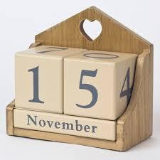 interior wooden perpetual calendar only 4 99 luxurious block 7 wooden block calendar