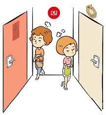 main door feng shui door facing another door bedroom face kitchen bad feng shui