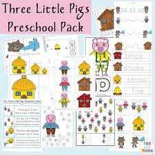 Three Little Pigs Printable Pack - Fun with Mama