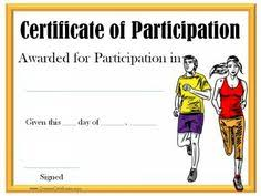 Fun Run Certificate Template 10 Best Running Certificates Images Award Certificates