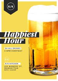 Restaurant Flyer Classy Happy Hour Beer Restaurant Flyer Templates By Canva
