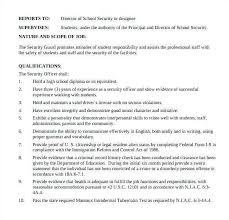 security guard resume objective security guard job description for resume new security guard resume
